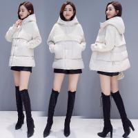羊羔服女短款2018新款冬韩版宽松拼接加厚大码棉衣外套 S 适合90-105斤穿