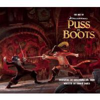[现货]英文原版 The Art of Puss in Boots 穿靴子的猫电影艺术原画集