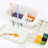 多功能洗笔桶 带调色盘水桶美术涮笔筒颜料水粉绘画水彩国画画画用油画