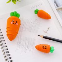 创意卡通可爱胡萝卜橡皮擦幼儿园奖品学生擦得干净不留痕橡皮