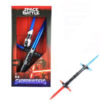 星球大战十字光剑激光剑闪光剑酒吧表演组合伸缩刀剑儿童男生玩具
