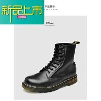 新品上市马丁靴男英伦风8孔情侣皮靴高帮工装靴复古真皮靴子男女鞋