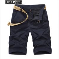 吉普JEEP短裤男多袋裤男士水洗纯棉休闲五分裤男式水洗纯棉工装裤沙滩中裤