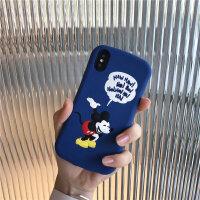 欧美苹果X/Xs/Max/XR手机壳卡通iPhone7plus全包防摔硅胶软6s女8p iPhone X/XS 鞠躬米奇