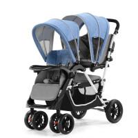 双胞胎婴儿推车二胎双人大小孩推车前后座轻便带踏板神器