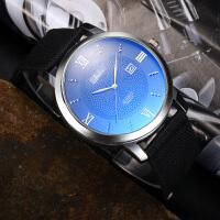 新款韩版潮流时尚简约手表女表尼龙带男士手表石英表学生表防水表