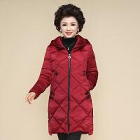 中老年冬装外套女中长款2018新款大码棉袄40岁50妈妈羽绒保暖棉衣
