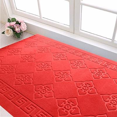 可裁剪定制门垫地垫门厅吸水防滑脚垫走廊红地毯楼梯地毯T