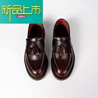 新品上市【张三疯定制】擦色红低帮鞋懒人鞋套脚马丁鞋 酒红色