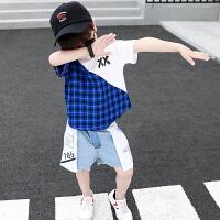 童装男童套装夏装中小童儿童短袖两件套