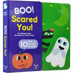 万圣节绘本 英文原版 Boo! Scared You! 纸板翻翻书 趣味幽默图画故事绘本 Twirl法国艺术品牌