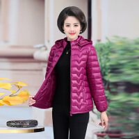 羽绒服中老年服女妈妈冬装外套短款40-50-60岁中年轻薄款