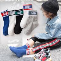 儿童袜子 春秋冬款男童女童潮袜1-3-5-7-10岁宝宝运动中筒袜