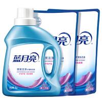 蓝月亮 洗衣液深层洁净4斤装:深层洁净1kg瓶+袋装补充装500g袋*2