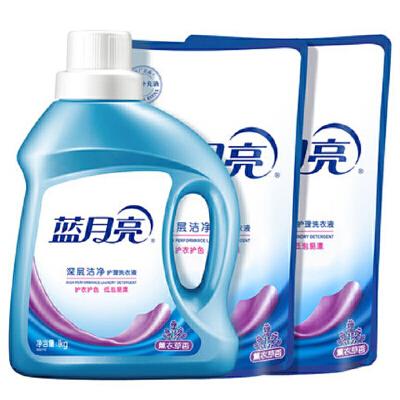 蓝月亮 洗衣液深层洁净4斤装:深层洁净1kg瓶+袋装补充装500g袋*2 深层洁净,高浓度强去污,原液补充,经济装