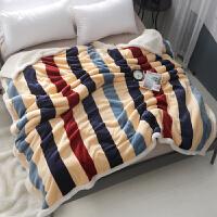双层仿羊羔绒毛毯加厚珊瑚绒床单冬季单人午睡办公室小毛毯学生宿舍k