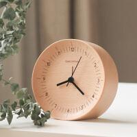 小米有品本来设计实木创意室床头闹钟榉木-米-数字条