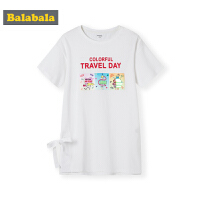 巴拉巴拉儿童T恤短袖女童打底衫夏装2019新款中大童童装简约长款