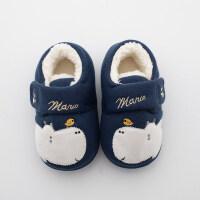 儿童棉拖鞋男室内鞋包跟滑小孩拖鞋女1-3岁冬季宝宝棉鞋家居鞋