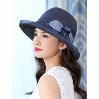 真丝帽子女 夏韩版帽子女 潮可折叠太阳帽防晒女士遮阳帽夏天