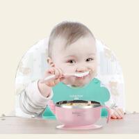 婴儿注水保温碗防摔防烫餐盘宝宝不锈钢吸盘碗儿童餐具套装辅食碗