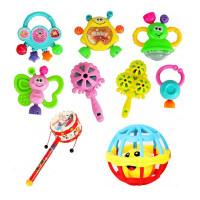 男女孩儿幼儿手摇铃牙胶婴儿玩具0-3-6岁