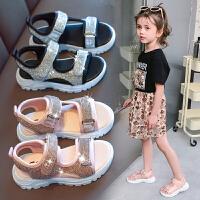 女童凉鞋时尚夏季儿童沙滩鞋软底小女孩公主鞋