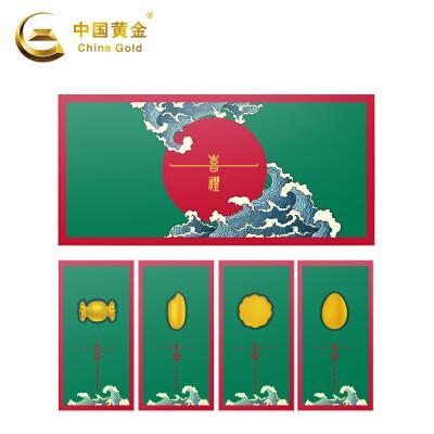 中国黄金-足金平安喜礼*收藏金储值投资纪念纯金红包开门见喜