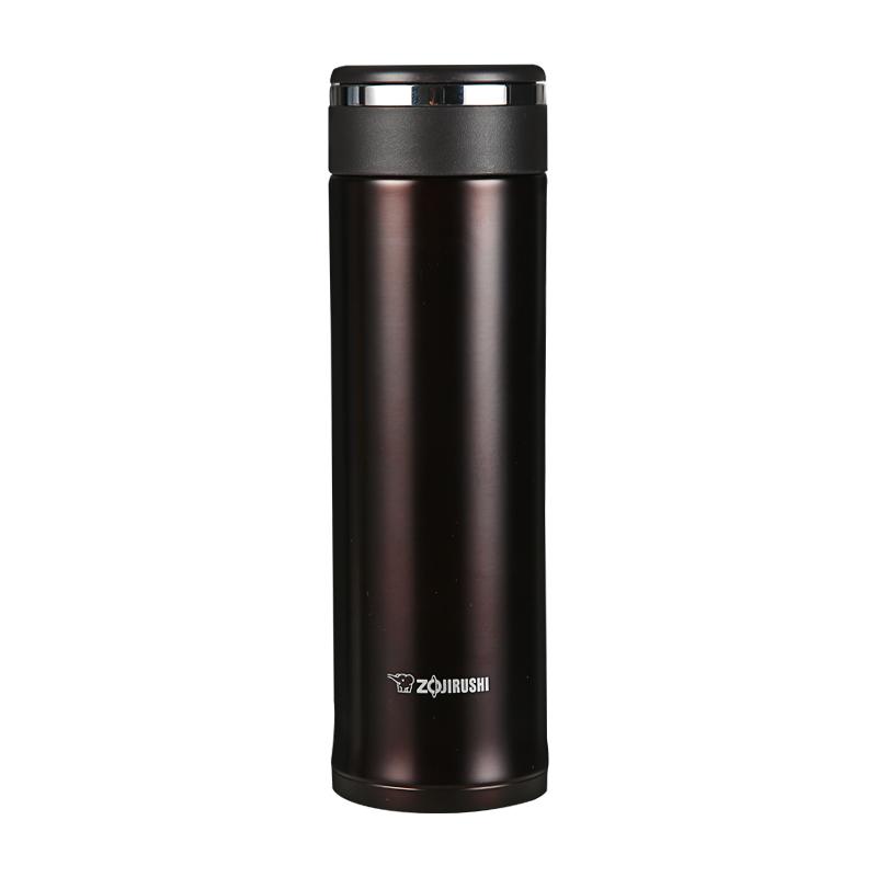 象印保温杯JZ48真空不锈钢水杯男女士便携茶杯迷你进口直身杯子 深棕色 新品上市 经典杯型 保温保冷