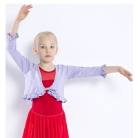 儿童舞蹈服小外套坎肩上衣女孩跳舞服装春秋女童练功服