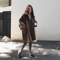 2019新款森系毛呢大衣女新款chic时尚通勤流行山羊绒(羊绒)羊绒赫本风毛呢大衣