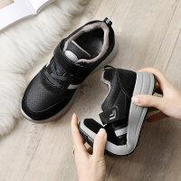 老人鞋女滑软底舒适中老年健步鞋妈妈运动鞋加绒保暖棉鞋