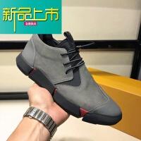 新品上市男鞋春季韩版潮流百搭真皮英伦休闲鞋透气板鞋男士潮牌皮鞋