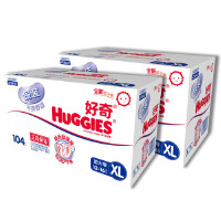 [当当自营]Huggies好奇 银装 干爽纸尿裤 尿不湿 箱装 加大号XL104片*2箱 (适合12-16公斤)(电商