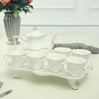 欧式创意客厅家用水杯套装陶瓷茶杯水具耐热凉冷水壶整套带托盘