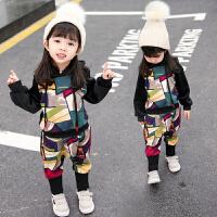 宝宝套装女童秋冬装儿童加厚双面绒两件套