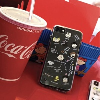 卡通snoopy史努比iPhone7/8plus/6s韩国ins手机壳苹果XSXRMax软壳 6/6s白色字体 (适合