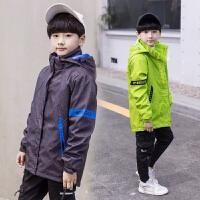 童装春秋季儿童三合一冲锋衣外套户外大男童可拆卸两件套加绒加厚
