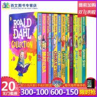 新版罗尔德达尔英文原版全套Roald Dahl 15册 女巫好心眼儿圆梦巨人了不起狐狸爸爸查理和巧克力工厂魔法手指儿童
