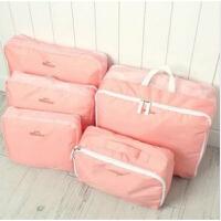 收纳套件 收纳袋内衣服杂物袋防水旅行李箱分类整理包便携五件套 收纳整理袋储物袋五件套旅游收纳袋