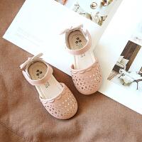 小公主鞋儿童包头凉鞋女童皮鞋2019夏季新款软底小童鞋子