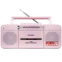 PANDA/熊猫 F-336收录复读机品牌录音机磁带U盘MP3英语学习教学机小学初中生多功能英语播放收音机 红色