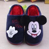 男童女童宝宝防滑小孩室内包跟冬儿童棉拖鞋