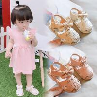 婴儿凉鞋女宝宝公主鞋子1-3岁小皮鞋软底学步鞋包头幼儿不掉鞋夏2