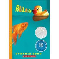 【现货】英文原版 Rules 大卫的规则 纽伯瑞获奖作品 少儿小说8-12岁 假期阅读推荐