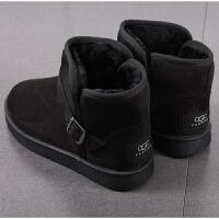 套筒棉鞋男冬季加厚保暖加绒靴子中老年老人防水短靴雪地靴棉靴男