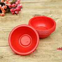 塑料碗一次性喜宴餐具红碗 婚庆用品 婚宴 一次性喜庆红碗