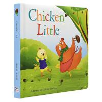 Chicken Little 小鸡仔传消息 精装软包封面 幼儿英语故事绘本 睡前故事 英文原版图书