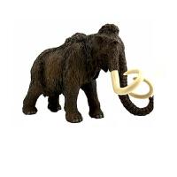 真动物模型儿童玩具 猛犸象 长毛象papo史前侏罗纪冰河世纪