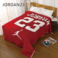 NBA飞人乔丹毛毯公牛AJ篮球迷周边绒毯JODAN23双人盖毯子单人床单 JODAN 23 ()